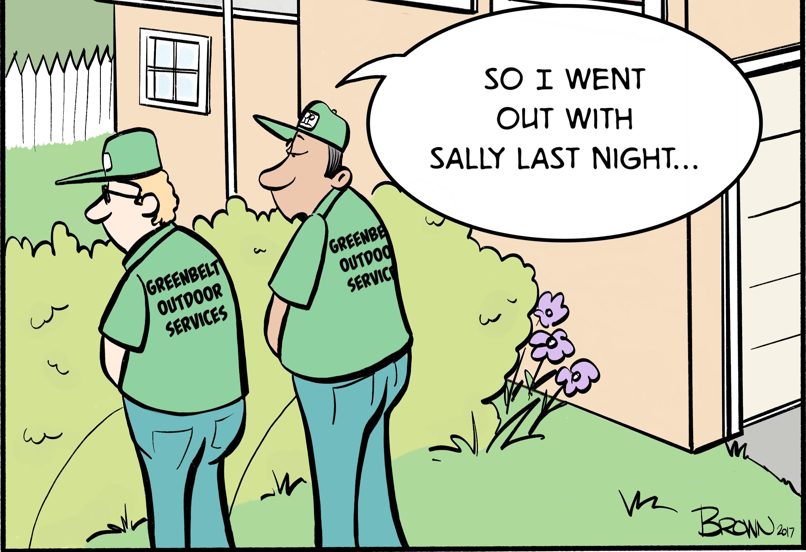 landscape leadership creates landscaping comic strip