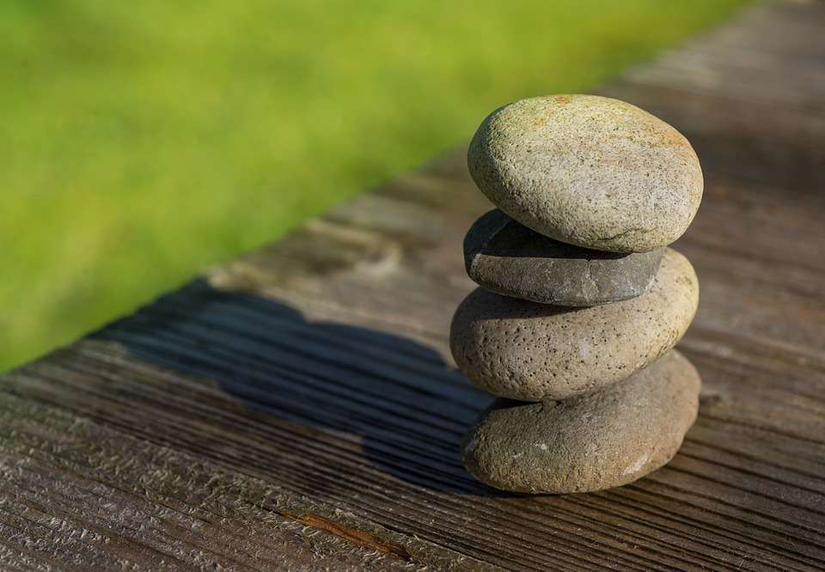 Stones Stacked on Top of Eachother