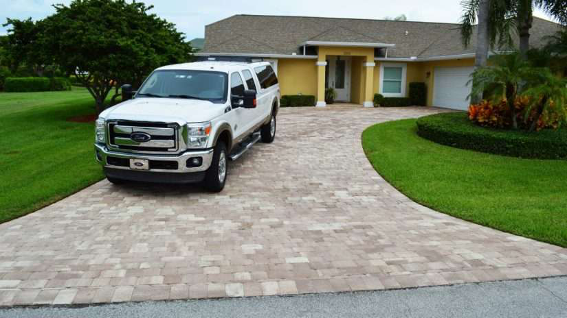 Dribond concrete overlay in driveway