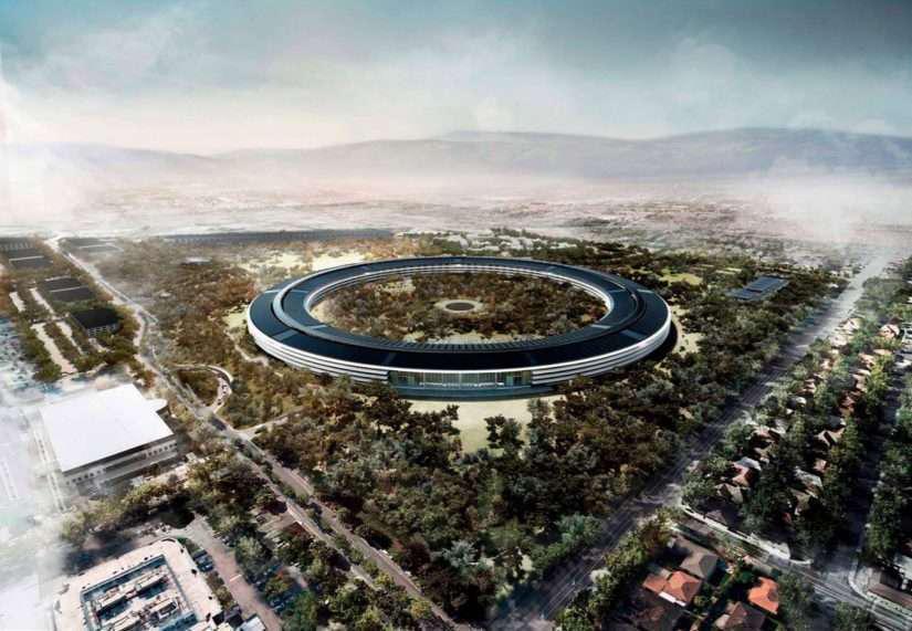 Mock of Apple's new campus in California