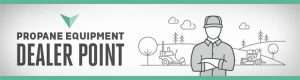 Propane equipment dealer point logo