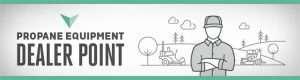 Propane equipment dealer point logo