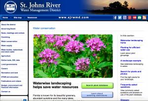 website for Saint John's river