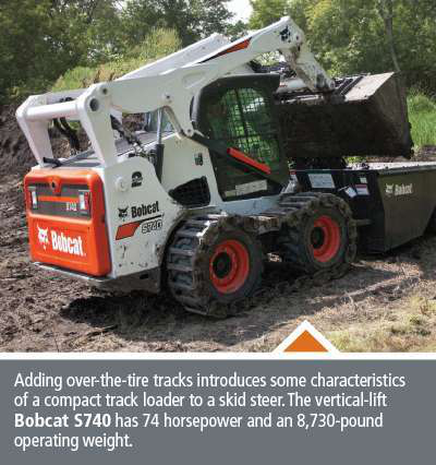 compact track loader characteristics added to Bobcat S740 skid steer