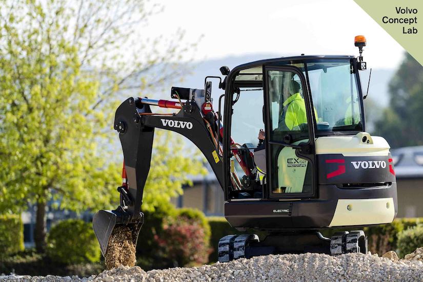 Volvo EX2 excavator mock up
