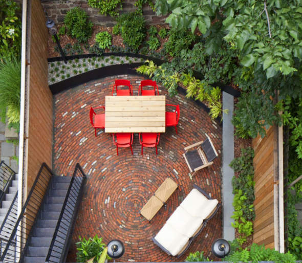 design tips create striking garden designs from a birds eye view