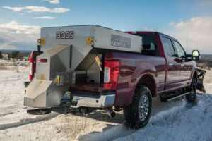 snowplow by boss in truck
