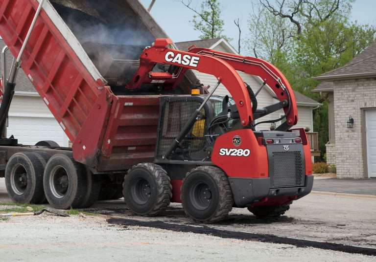 special edition red sv280 case skid steer