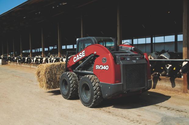 SV340 red case skid steer
