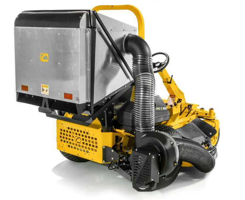 new clam shell bagger equipment and attachment by cub cadet