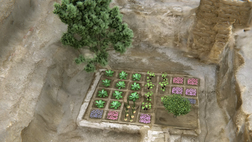 rendering of funerary garden by CSIC
