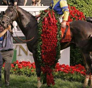 winner of kentucky derby receiving roses