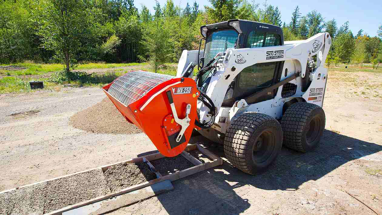 Mixers On The Go ~ Eterra mix and go attachment can pour concrete