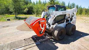 Eterra bmx250 skid steer concrete mixer