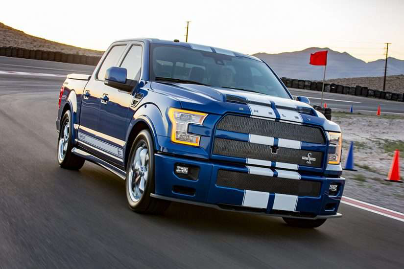 front view for ford's f-150 shelby super snake