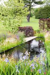 show garden with pond at wedgwood
