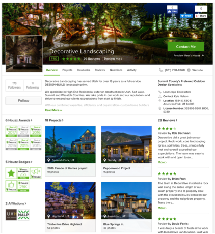 houzz partners with nalp with decorative landscaping