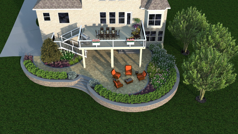 preview of landscaping with design software