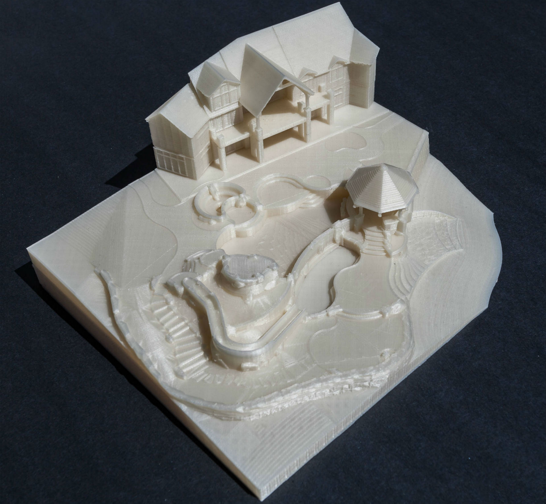 3d printed landscaping model