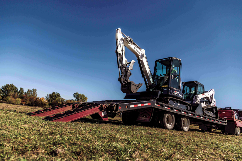 Transporting your compact excavator safely and securely