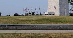 barrier around the Washington monument