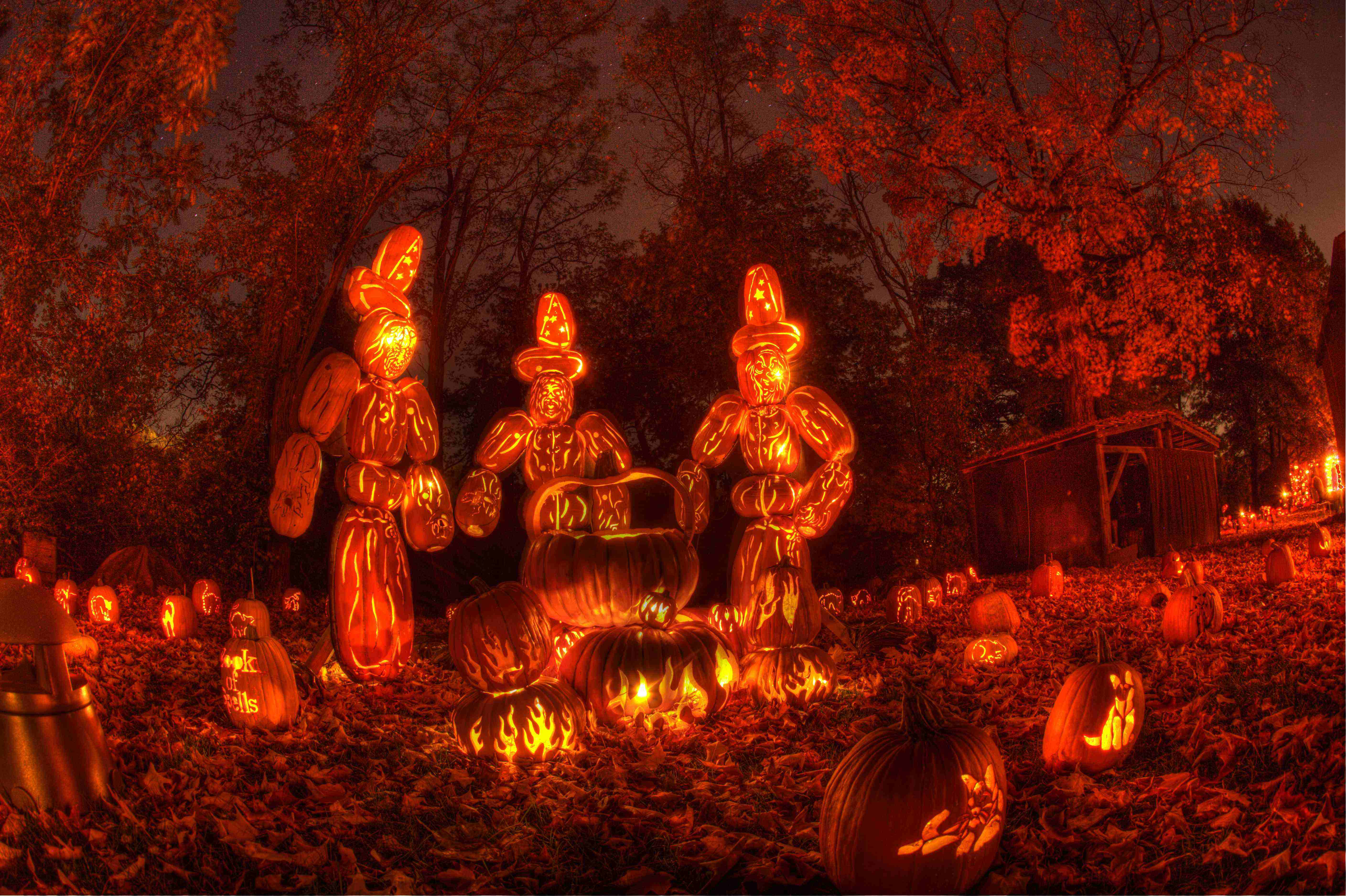 Great Jack-O-Lantern Blaze featuring Macbeth witches