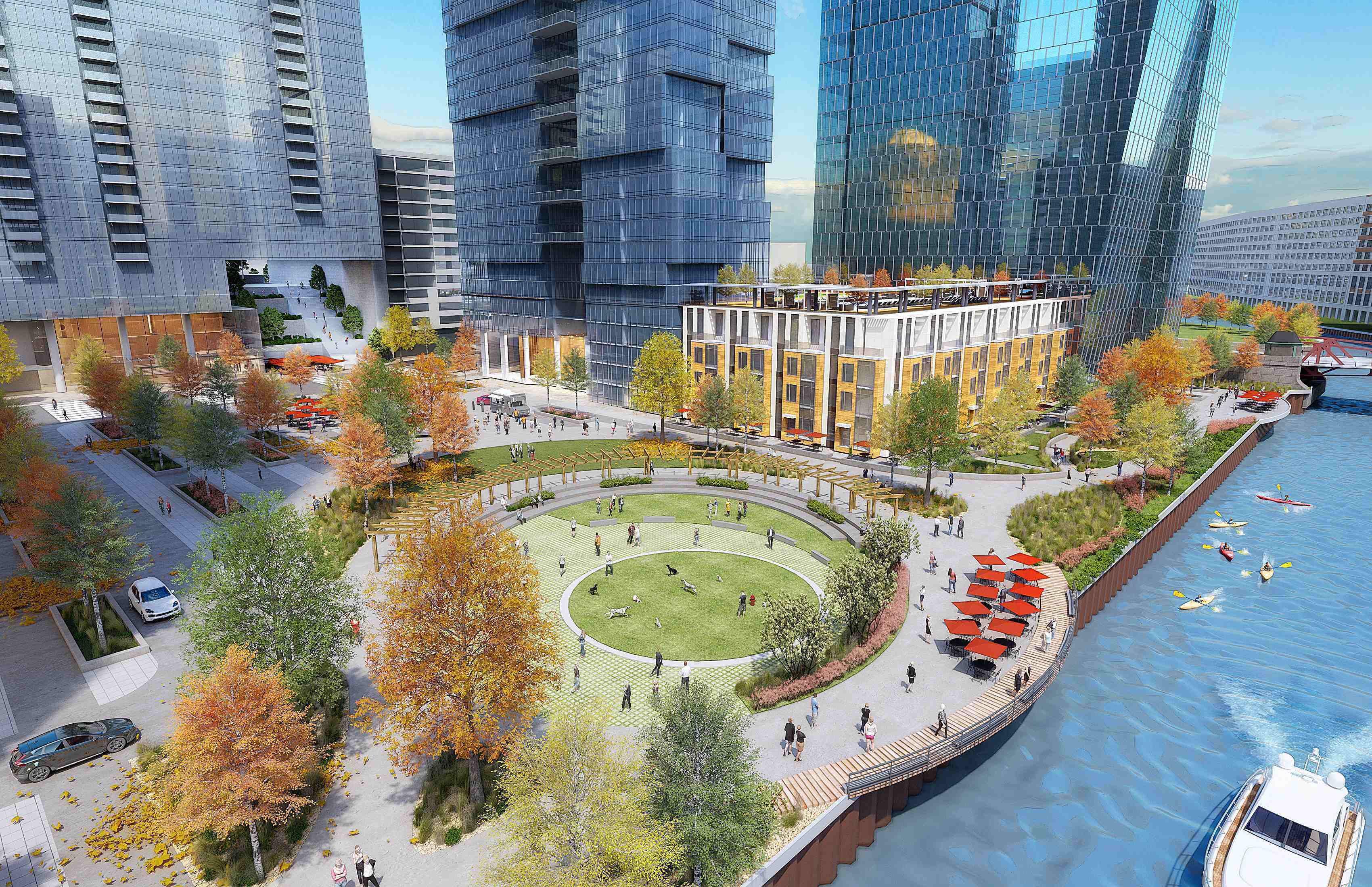 Chicago riverfront mock design