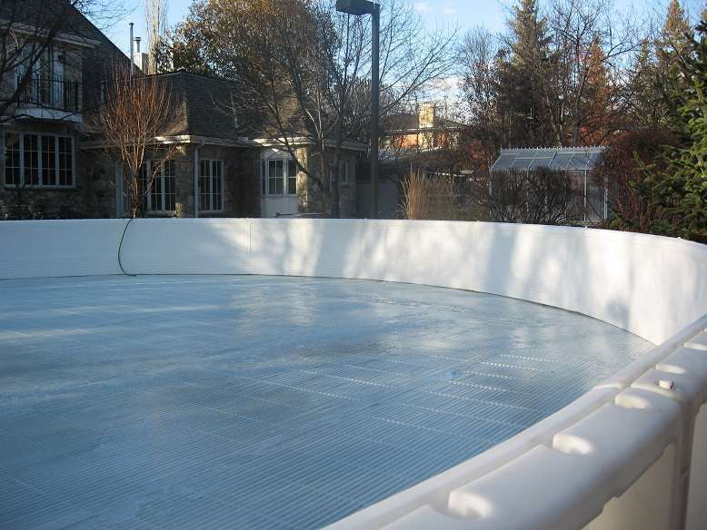 Filling Up Ice Rink
