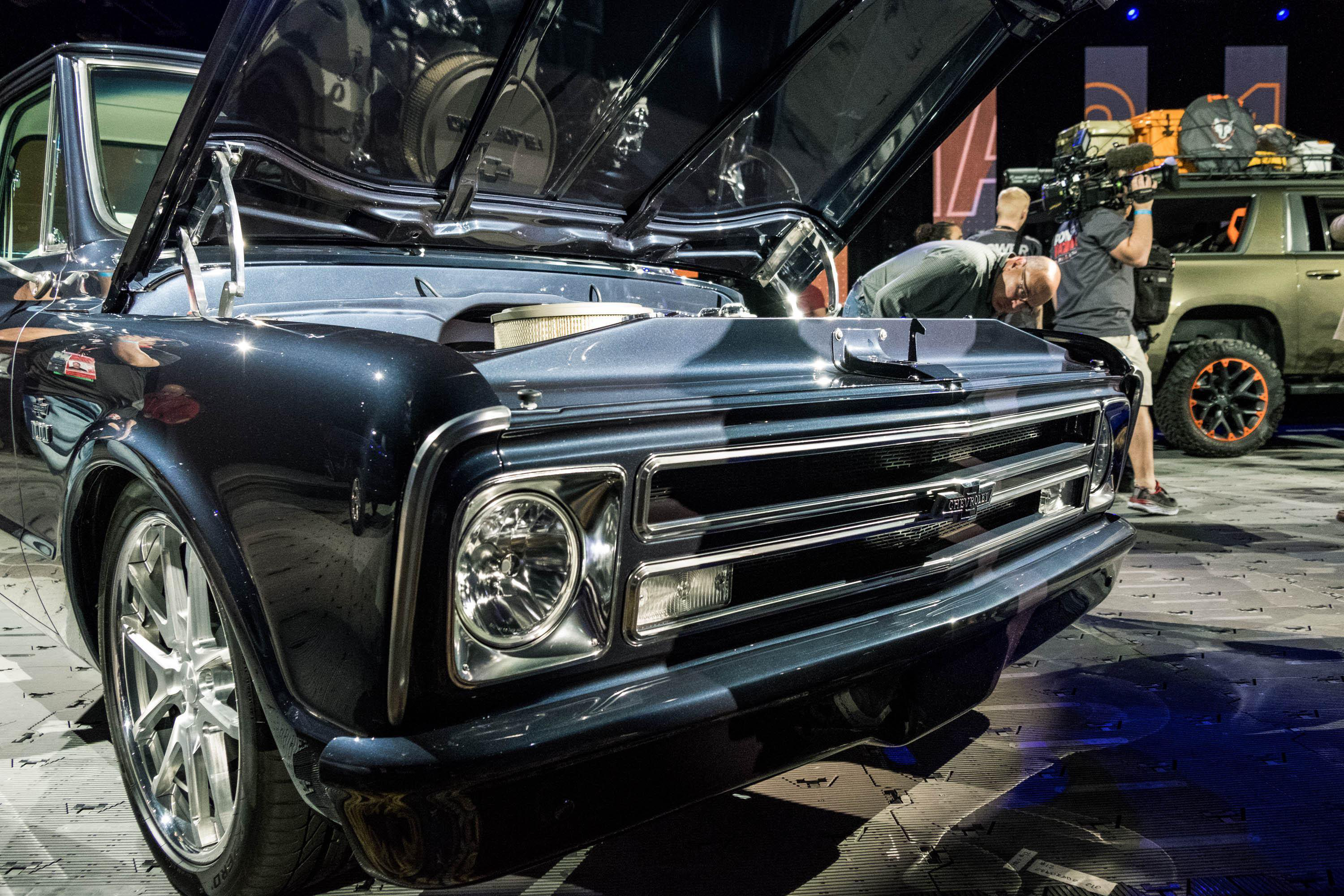 Grill of Vintage Chevrolet Truck