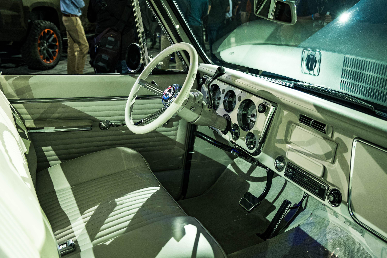 Interior of Vintage Chevy Truck