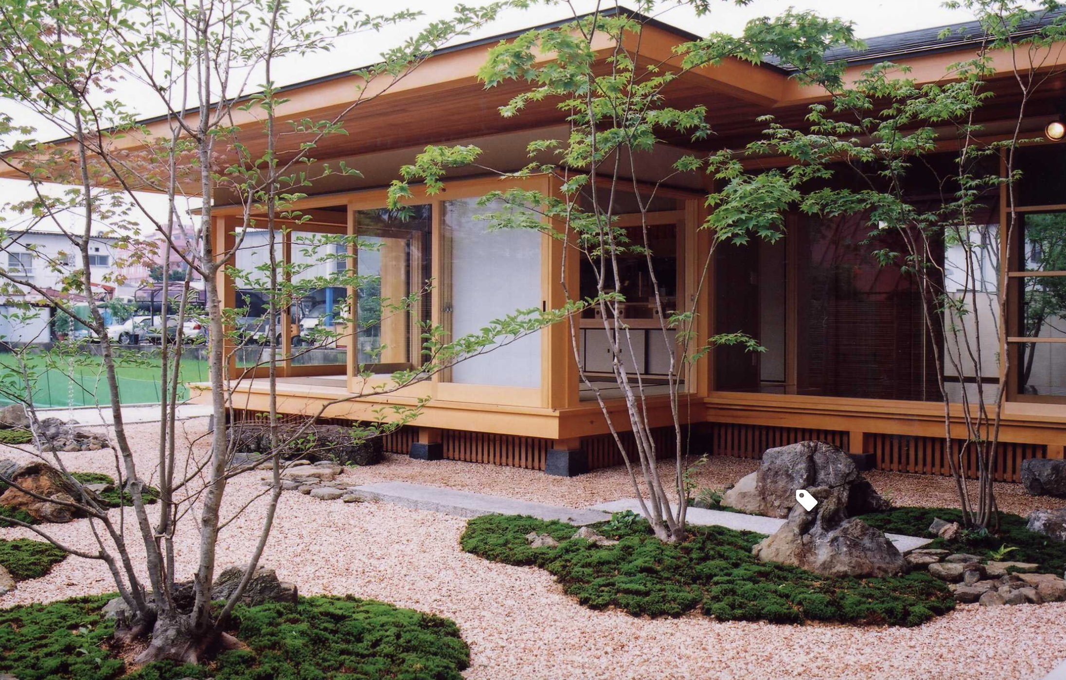 Japanese Style House With Zen Garden Outside