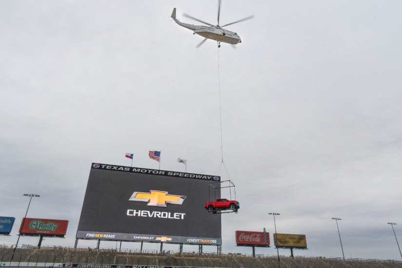 helicopter brings in chevy