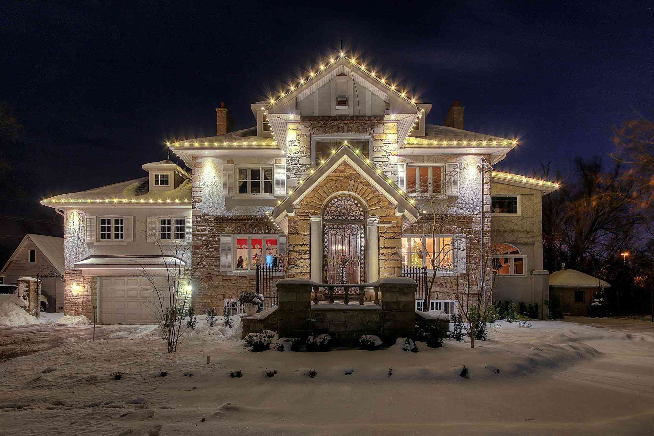 Holiday Light On Home