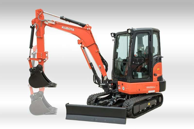 Kubota introduces the KX033-4 with extendable dipper arm