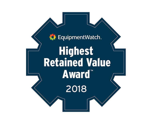 EquipmentWatch Highest Retained Value Award 2018