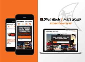 ditchwitch parts look up app