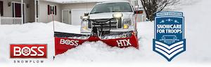 boss snowplow snowcare for troops