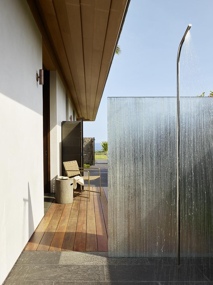 Photo of an Open Outdoor Shower