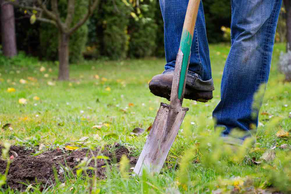 Call 811 to avoid trouble before you use in a shovel