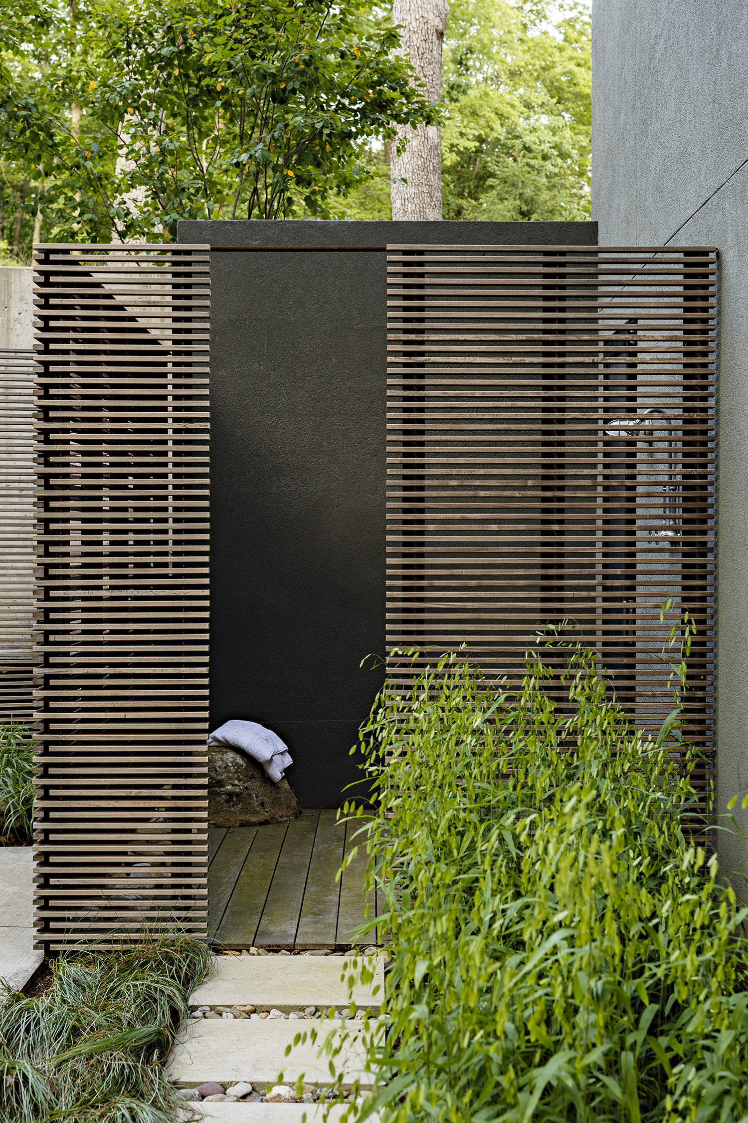 Photo of an Outdoor Shower Entrance