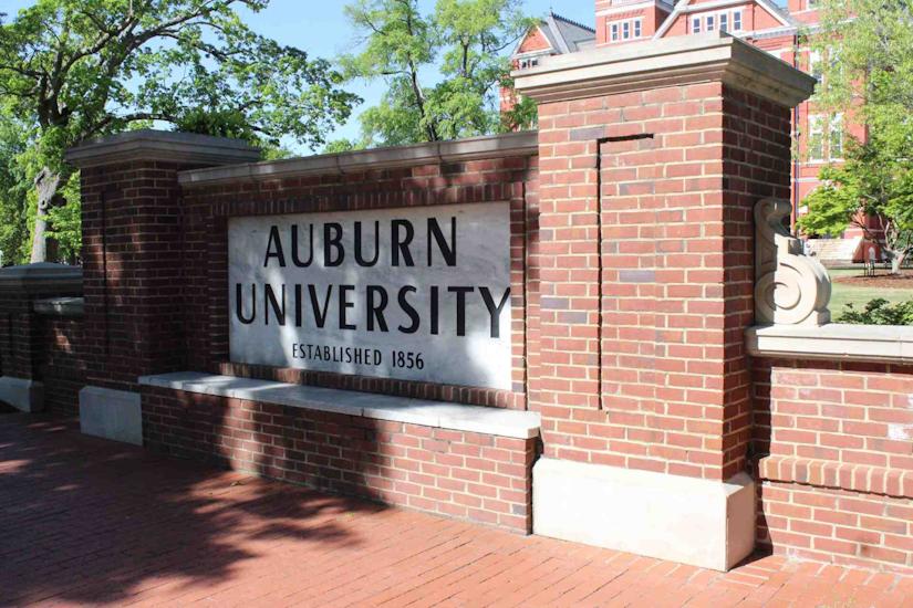 Auburn University's team of professional landscapers