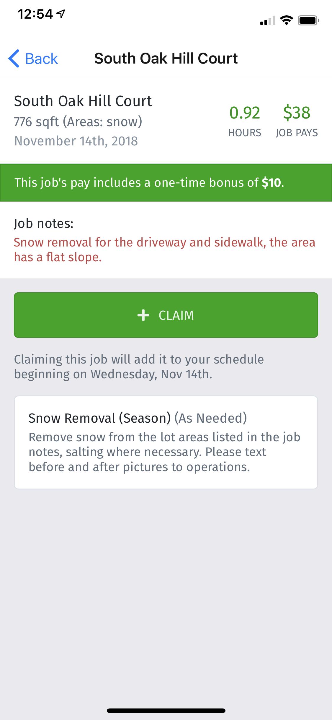 Snow Removal Provider App