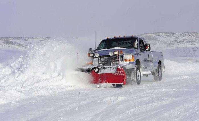 Snowplow-in-snow