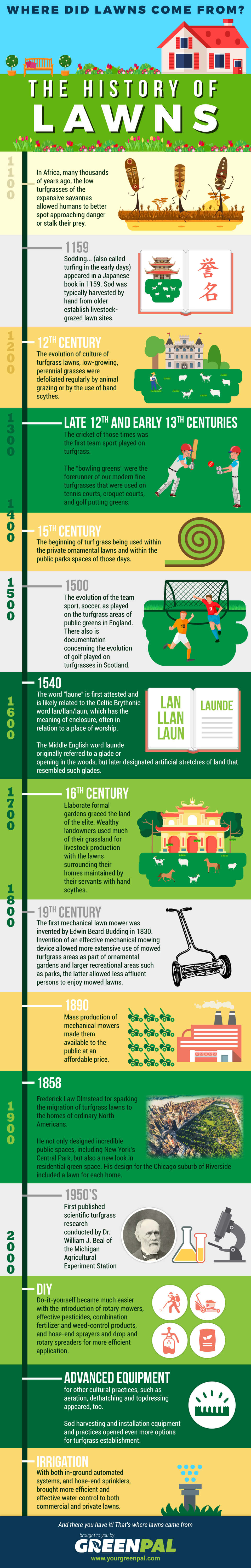 History of Lawns infographic