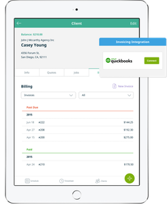 example client invoicing for quickbooks on ipad