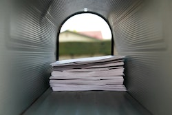 Mail inside of a mailbox