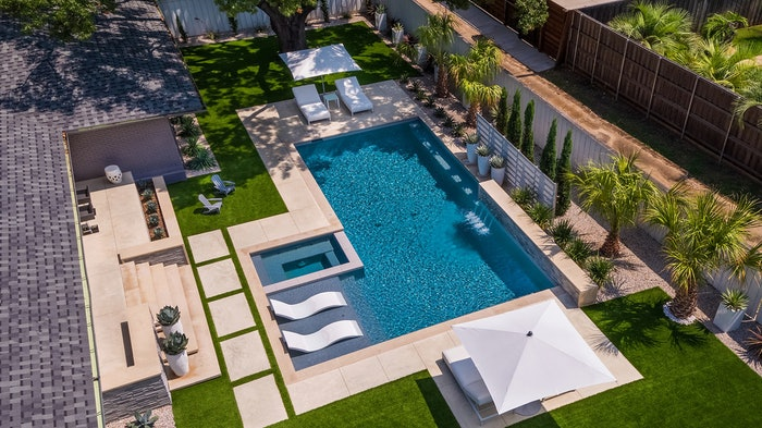 backyard swimming pool and patio design by Randy Angell