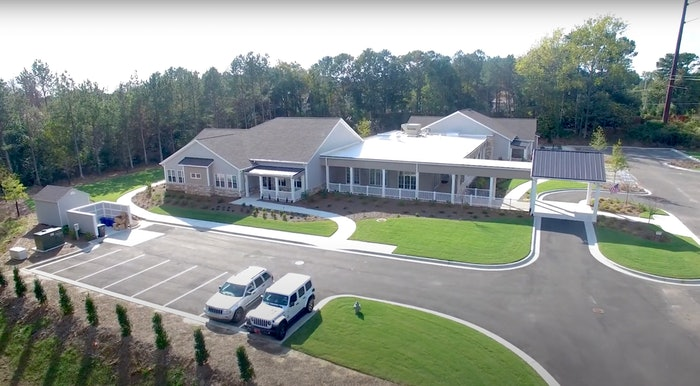 overhead view of Champions Place facility