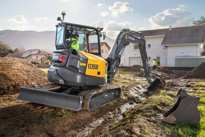 Volvo ECR58F compact excavator