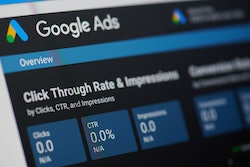 google ads data overview for clicks, impressions, and click-through-rate